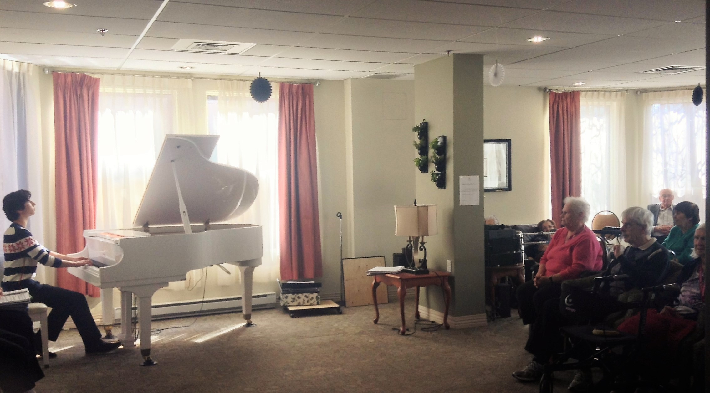 Zachary Lagha in concert at WillowDale Senior Residence, Montreal